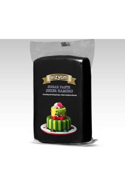 Cakes Party Vizyon Şeker Hamuru Siyah 1 kg