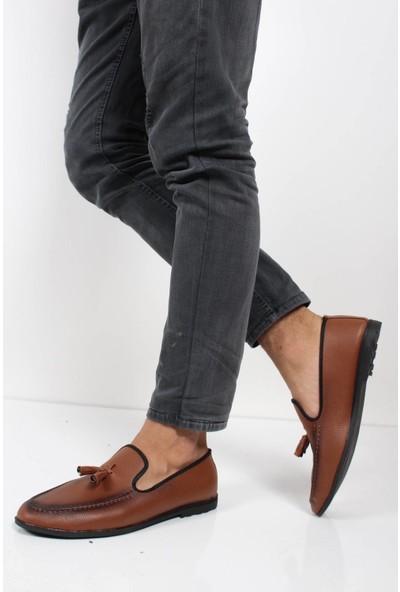 Oksit 077 Baskili Erkek Loafer Ayakkabı