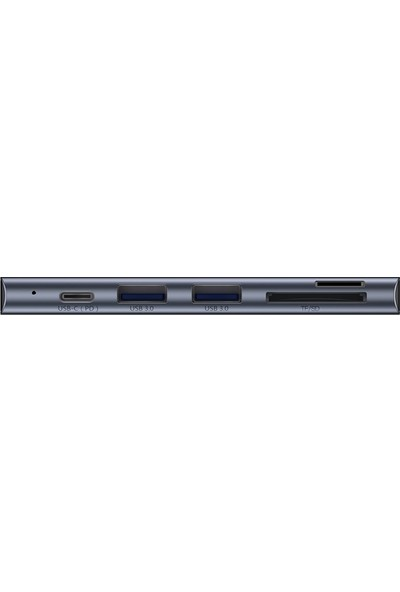Baseus Harmonica Five-In-One Hub Adapter Grey CAHUB-K0G