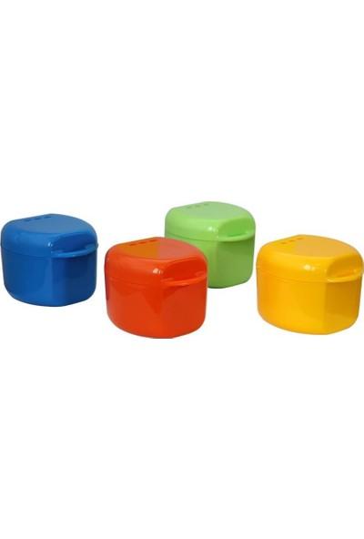 Pudra Diş Protez Saklama Kutusu/kabı Aparey Kutusu 4 Adet