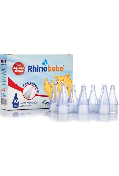 Rhinobebe Nazal Burun Aspiratörü Yedek Uç 3 Kutu
