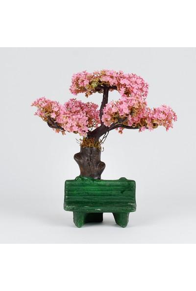 Bappay Bonsai Keyif Bankı Yapay Saksıda Bonsai Ağacı