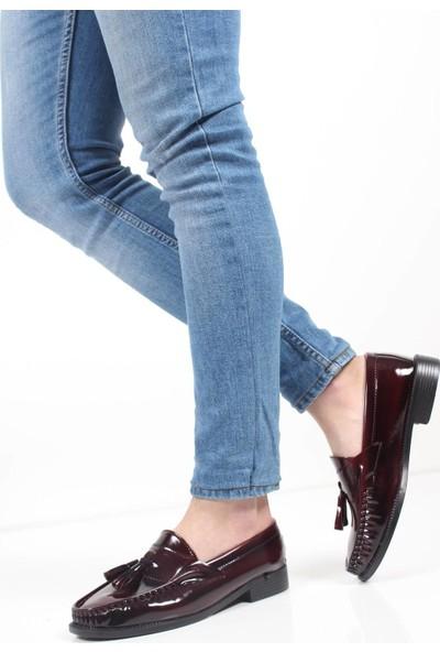 May Loafer Puskullu Rugan Ayakkabı