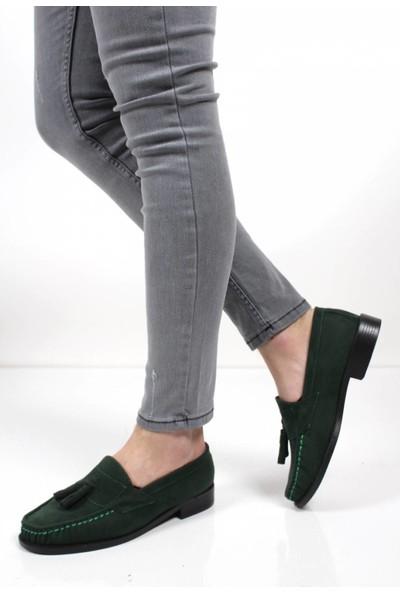 May Loafer Puskullu Süet Ayakkabı