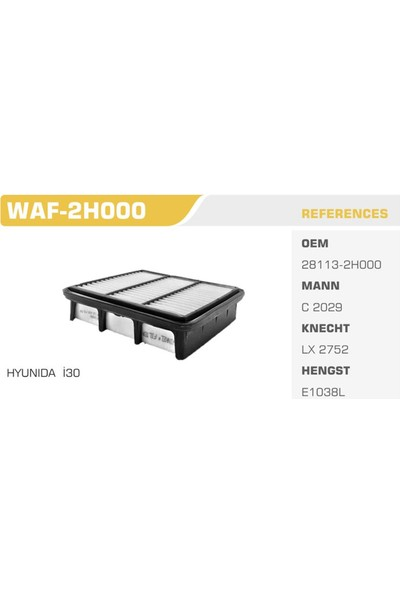 Winkel Waf-2H000 Hyundaı İ 30 Hava Filtresi