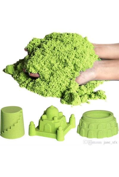Heroes Oyun Kumu 2,5 kg Dağılmayan Kinetik Kum Yeşil