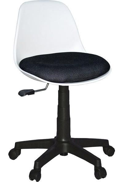 Türksit Çalışma Sandalyesi Plastik Ayak Beyaz