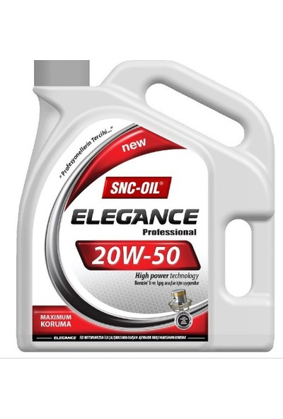 Snc Elegance 20W50 4 Litre Motor Yağı