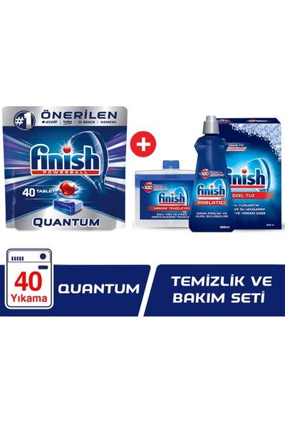 Finish Quantum 40 Tablet Bulaşık Makinesi Deterjanı + Finish Temizlik ve Bakım Seti