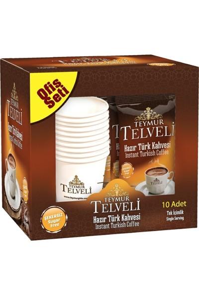 Teymur Telveli Hazır Türk Kahvesi Orta 9 gr 10 lu Kutu X 12 Kutu = 120' li