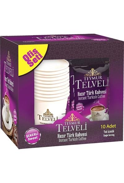 Teymur Telveli Hazır Türk Kahvesi Şekerli 11 gr 10 lu Kutu X 12 Kutu = 120' li