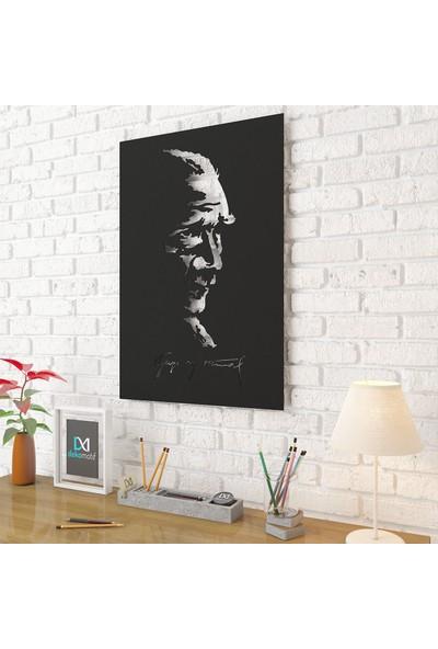 Dekomotif Gazi Mustafa Kemal Atatürk Metal Tablo Ev/ofis Dekorasyonu