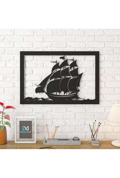 Dekomotif Yelkenli Gemi Metal Tablo Ev/ofis Dekorasyonu