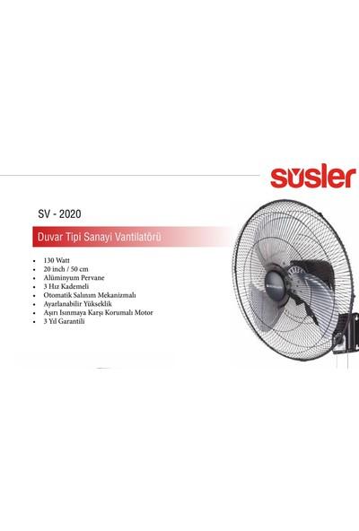 Süsler SV-2020 Duvar Tipi Vantilatör