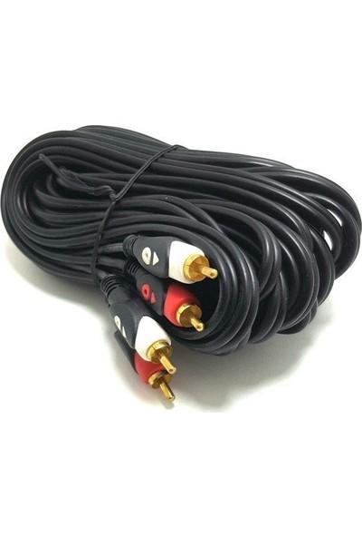 Electroon 2rca 2rca Kablo 5metre Gold Altın Uçlu