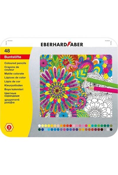 Eberhard Faber Kuruboya 48 Renk Metal Kutu 3Mm Mine