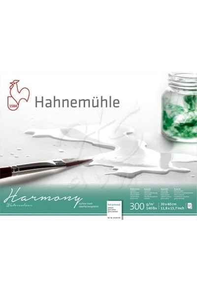 Hahnemühle Harmony Sulu Boya Blok 300G 12 Yaprak Hot Pressed 30X40Cm