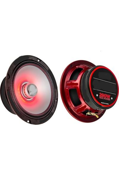 R Audio Yeni Nesil Profesyonel 16 cm 120W Rms-Kırmızı Ledli Midrange