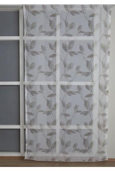 Premier Home Keten Tül Desenli Perde Renkli 140 x 270 cm