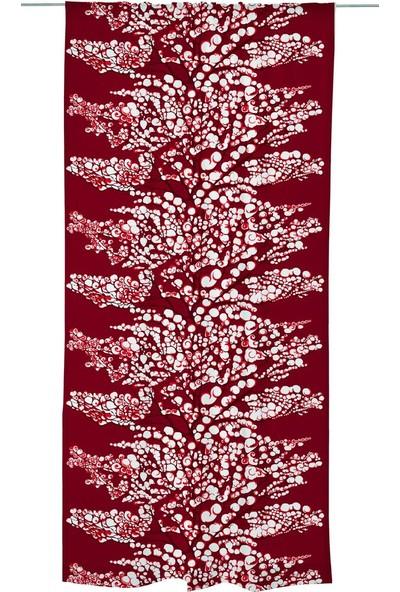Melodie Tül Fon Perde Kırmızı 145 x 250 cm