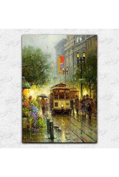 İyi Olsun Tramvay Nostalji Kanvas Tablo