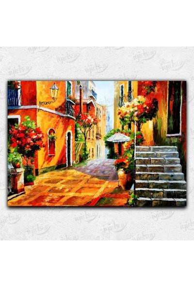 İyi Olsun Renkli Sokak Temalı Kanvas Tablo