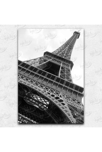 İyi Olsun Eyfel Kulesi Siyah Beyaz Kanvas Tablo