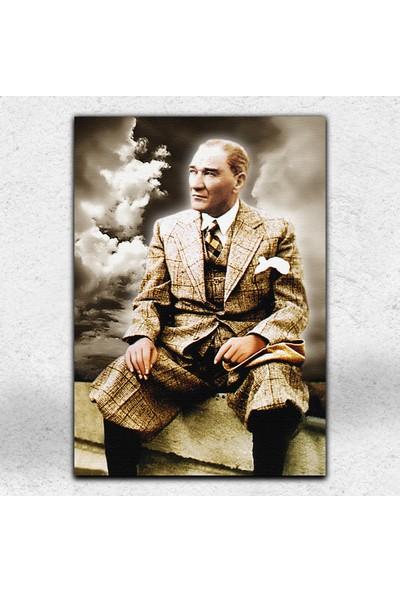 İyi Olsun Mustafa Kemal Atatürk Dekoratif Kanvas Tablo