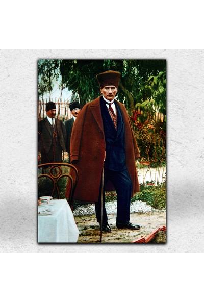 İyi Olsun Kalpaklı Atatürk Portresi Kanvas Tablo