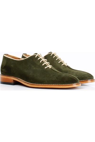 Bruno Shoes Yeşil Süet Deri Kösele Ayakkabı Erkek B01-8123 043