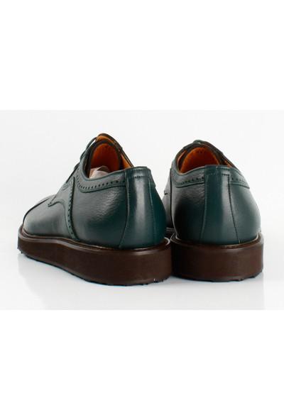 Bruno Shoes Yeşil Antik Deri Eva Taban Ayakkabı P02-095 41