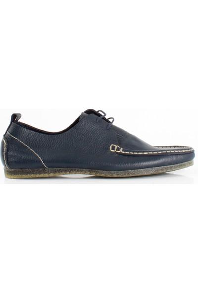 Bruno Shoes Lacivert Floter Deri Hazır Taban Ayakkabı P02-6115 13