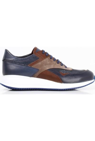 Bruno Shoes Lacivert Floter Deri Eva Taban Ayak. Erkek B02-98104