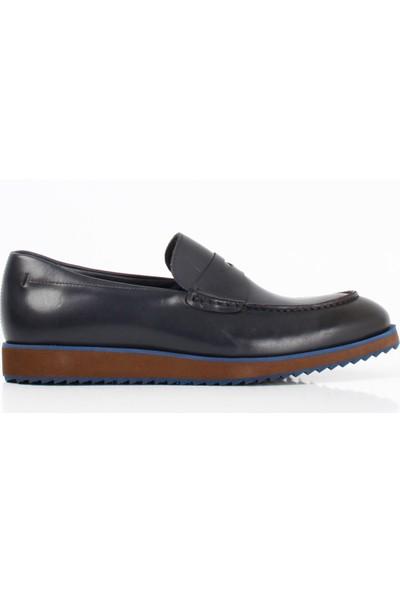 Bruno Shoes Lacivert Antik Deri Eva Taban Ayakkabı B02-207101 17