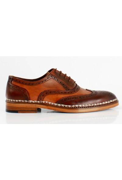 Bruno Shoes Kahve Antik Deri Gazumalı Kösele Ayakkabı Erkek B01-7701