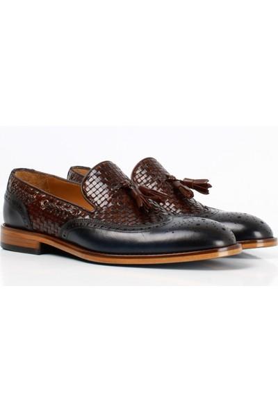 Bruno Shoes 9037K Klasık Erkek Kösele Örgü Taban Ayakkabı