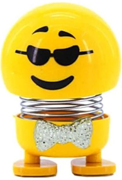 Cyrox Zıpzıp Kafalar - Kafa Sallayan Emoji Torpido Süsü - 6'lı Set