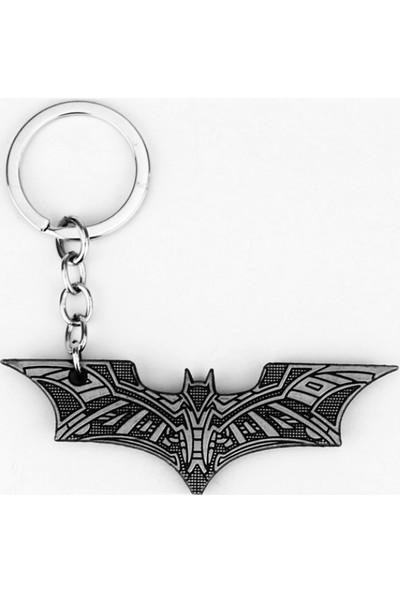 Batman İşlemeli Logo Anahtarlık