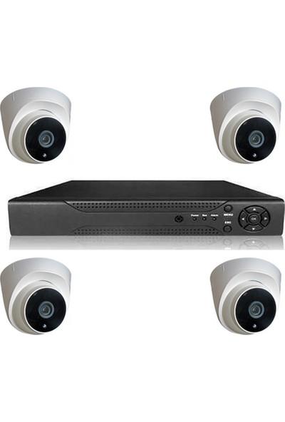 Primuscam Dome Güvenlik Kamera Seti İç Ortam 4 Kameralı Set Gece Görüşlü 2mp Ahd