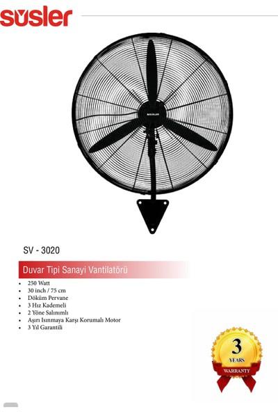 Süsler SV-3020 San Tipi Duv Vantilatör