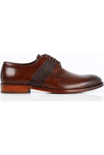 Bruno Shoes 6219K Kahve Antik Deri Kösele Ayakkabı Erkek