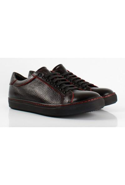 Bruno Shoes 3894Ka Siyah Erkek Kaucuk Taban Ayakkabı