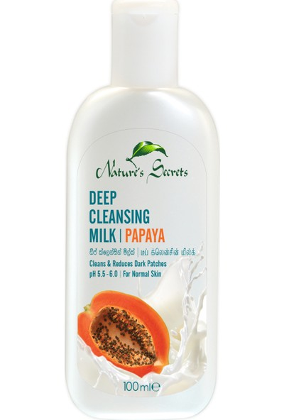Nature's Secrets Papaya Özlü Deep Cleansing Temizleme Sütü 100 ml