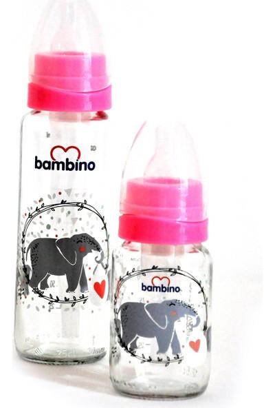 Bambino 2'li Biberon Seti Pembe 225 ml + 125 ml