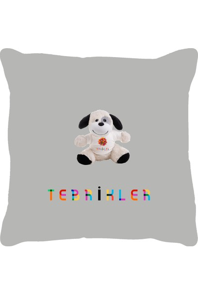 Özgüner 100 cm Bobo Beyaz Tebri̇kler + Yastıklı Köpek