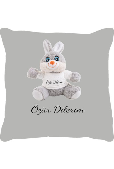 Özgüner 100 cm Bobo Kahve Özür Di̇leri̇m + Yastık Tavşan