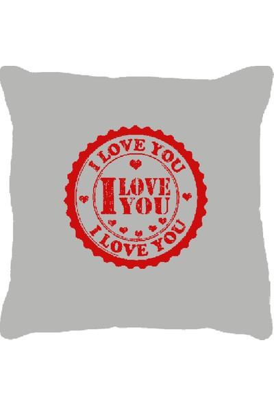 Özgüner 100 cm Bobo Pembe I Love You + Yastık