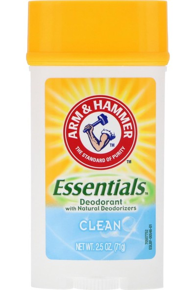Arm Hammer Essentials Clean Doğal Deodorant 71 gr
