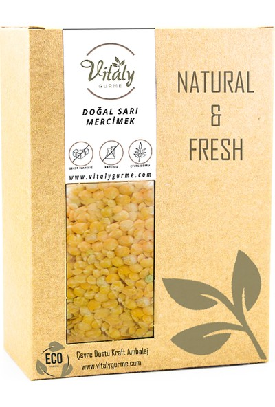 Vitaly Gurme Doğal Sarı Mercimek 500 gr