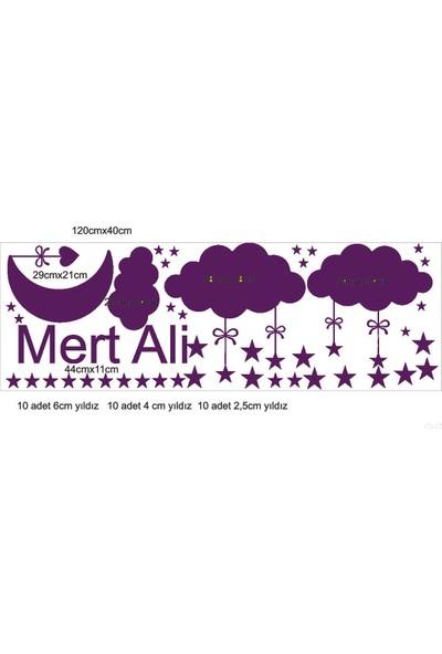 Pratikolay Isme Ozel Bulut Aydede Yildiz Takim Duvar Sticker